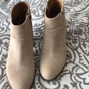 Like new worn once Franco Sarto tan suede booties.